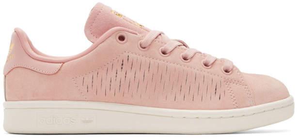 adidas Originals Pink Suede Stan Smith Sneakers