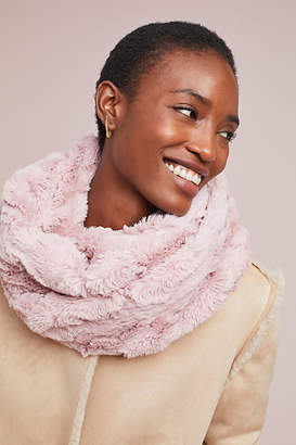 Anthropologie Crushed Faux Fur Cowl Scarf