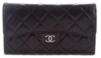 Chanel Quilted Trifold Wallet