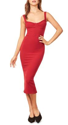 Reformation Adrian Sweetheart Neck Body-Con Dress