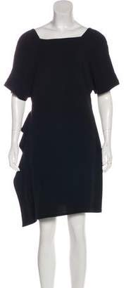 Derek Lam Silk Ruffle-Accented Dress