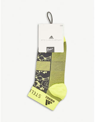 adidas by Stella McCartney Floral knitted trainer socks pack of two