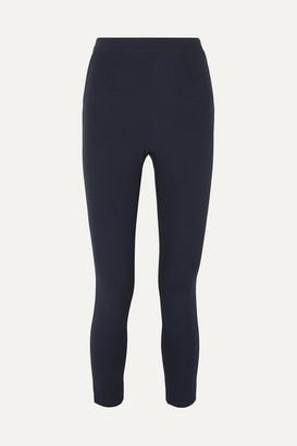 Safiyaa Adrianna Cropped Skinny Crepe Pants - Navy