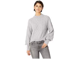 1 STATE 1.STATE Crew Neck Mixed Cable Sweater