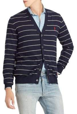 Polo Ralph Lauren Striped Cotton V-Neck Cardigan