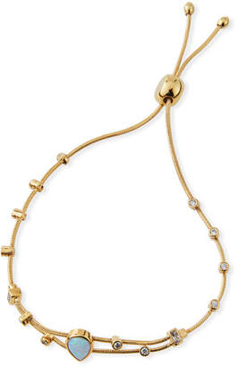 Tai Manmade-Opal & Cubic Zirconia Slider Bracelet
