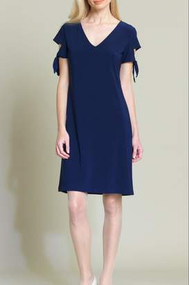 Clara Sunwoo Tie-Cuff Cap-Sleeve Dress