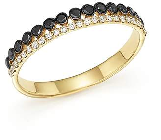Bloomingdale's White & Black Diamond Band in 14K Yellow Gold - 100% Exclusive