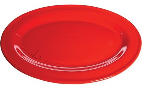 Mamma Ro Red Oval Serving Platter
