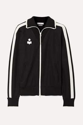 Etoile Isabel Marant Darcey Striped Jersey Track Jacket - Black
