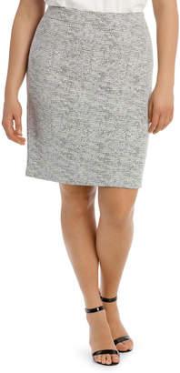 Jacquard Ponte Pencil Skirt