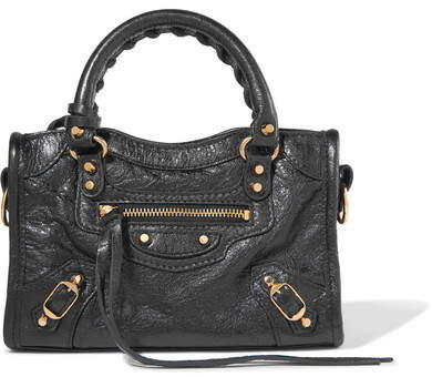 Balenciaga - Classic City Nano Texured-leather Shoulder Bag - Black