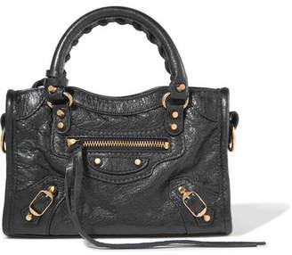 Balenciaga Classic City Nano Texured-leather Shoulder Bag - Black