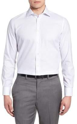 Luciano Barbera Trim Fit Dot Dress Shirt