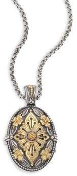 Konstantino Hebe Engraved 18K Yellow Gold& Sterling Silver Pendant