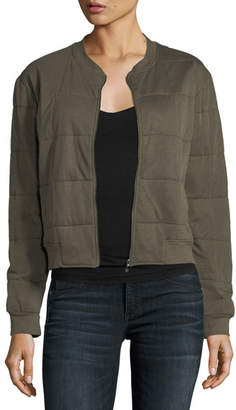 Majestic Quilted Bomber Jacket