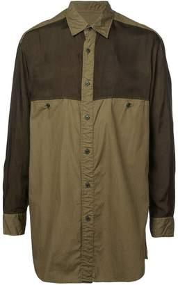 Yohji Yamamoto panelled shirt