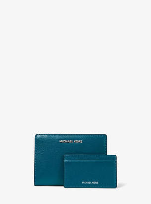 Michael Kors Jet Set Medium Crossgrain Leather Slim Wallet