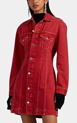 Helmut Lang Women's Denim Mini-Shirtdress - Red
