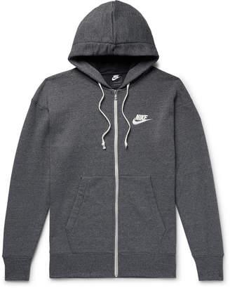 Nike Sportswear Heritage Mélange Loopback Cotton-Blend Jersey Zip-Up Hoodie
