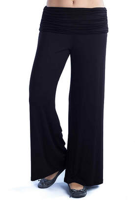 24/7 Comfort Apparel Solid Palazzo Pants