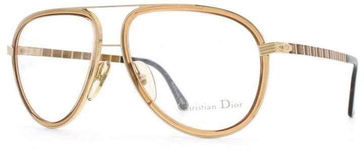 Christian Dior 2526 FLEX 43 Gold and Brown Authentic Men Vintage Eyeglasses Frame