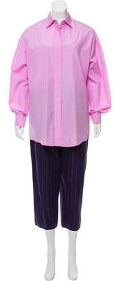 Shamask Button-Up Pant Set