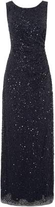 Adrianna Papell Sleeveless beaded cowl back gown