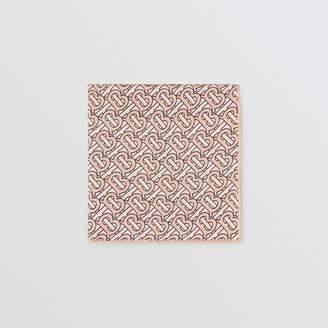 Burberry Monogram Print Silk Satin Pocket Square
