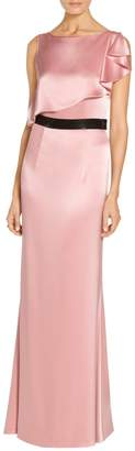 St. John Embellished Liquid Satin Gown