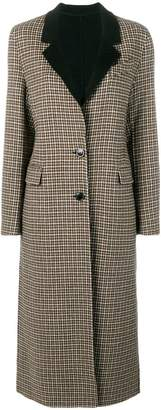 Pinko houndstooth single-breasted coat