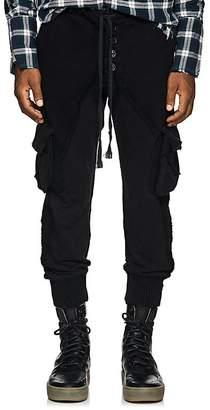 Greg Lauren Men's Cotton Cargo Lounge Pants