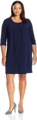 Junarose Women's Plus Size Rain Flavia Elbow Sleeve Dress