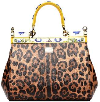 abdbc0b285d7 at Italist · Dolce   Gabbana Small Sicily Bag In Printed Dauphine Calfskin