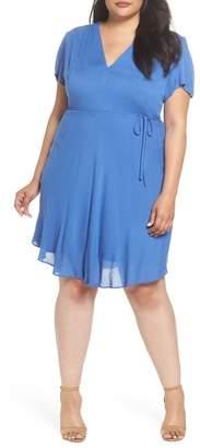 Glamorous Tie Waist Tea Dress (Plus Size)