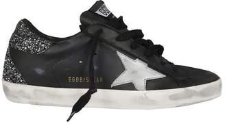 Golden Goose Glitter Heel Superstar Sneakers