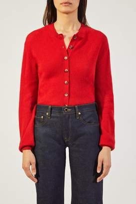 Khaite The Rosanna Cardigan In Crimson