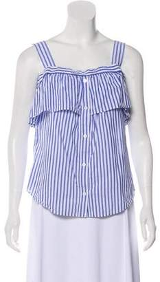 Veronica Beard Striped Sleeveless Top