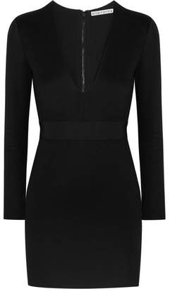 Alice + Olivia Alice Olivia - Simone Stretch-jersey Mini Dress - Black