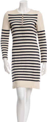 CelineCéline Striped Long Sleeve Dress
