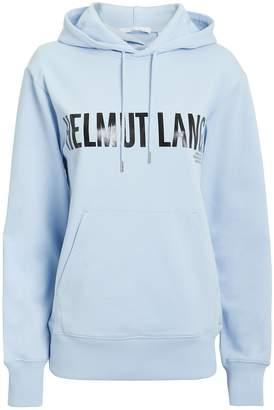 Helmut Lang Exclamation Sky Blue Logo Hoodie