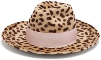 Federica Moretti Leopard-print rabbit-felt hat