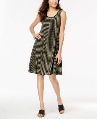 Style&Co. Style & Co Petite Striped A-Line Dress, Created for Macy's