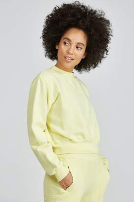 Cotton Citizen The Milan Cropped Crewneck Sweatshirt