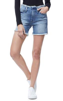 Ga Sale The Raw Hem Cut-Offs - Blue162