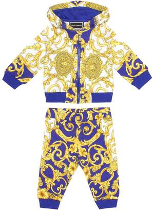 Versace Baby Printed cotton tracksuit