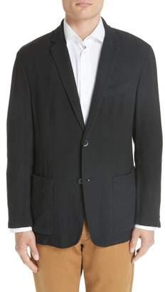 Barena Venezia Textured Knit Cotton & Linen Sport Coat