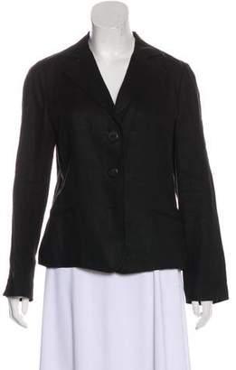 Akris Long Sleeve Linen Blazer