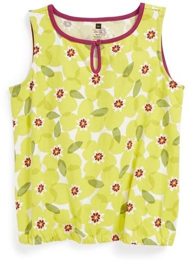 Tea Collection 'Primrose' Bubble Top (Toddler Girls)