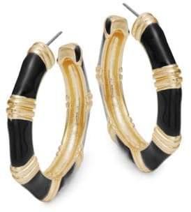 Kenneth Jay Lane Contrast Hoop Earrings